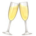 Champagne clinking glasses icon